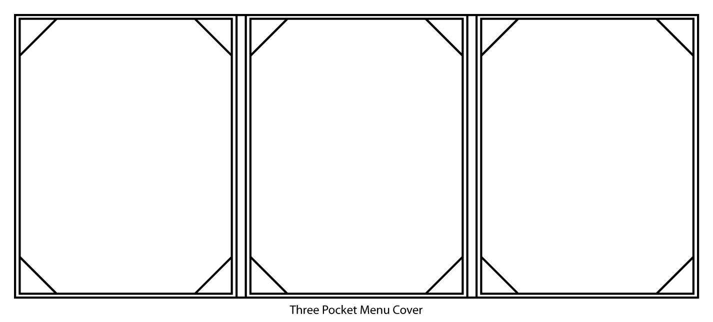 Three Pocket (Trifold) Menu Cover